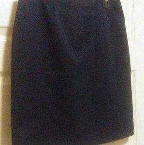 Melissa Lawrence navy suit skirt mini sz 12